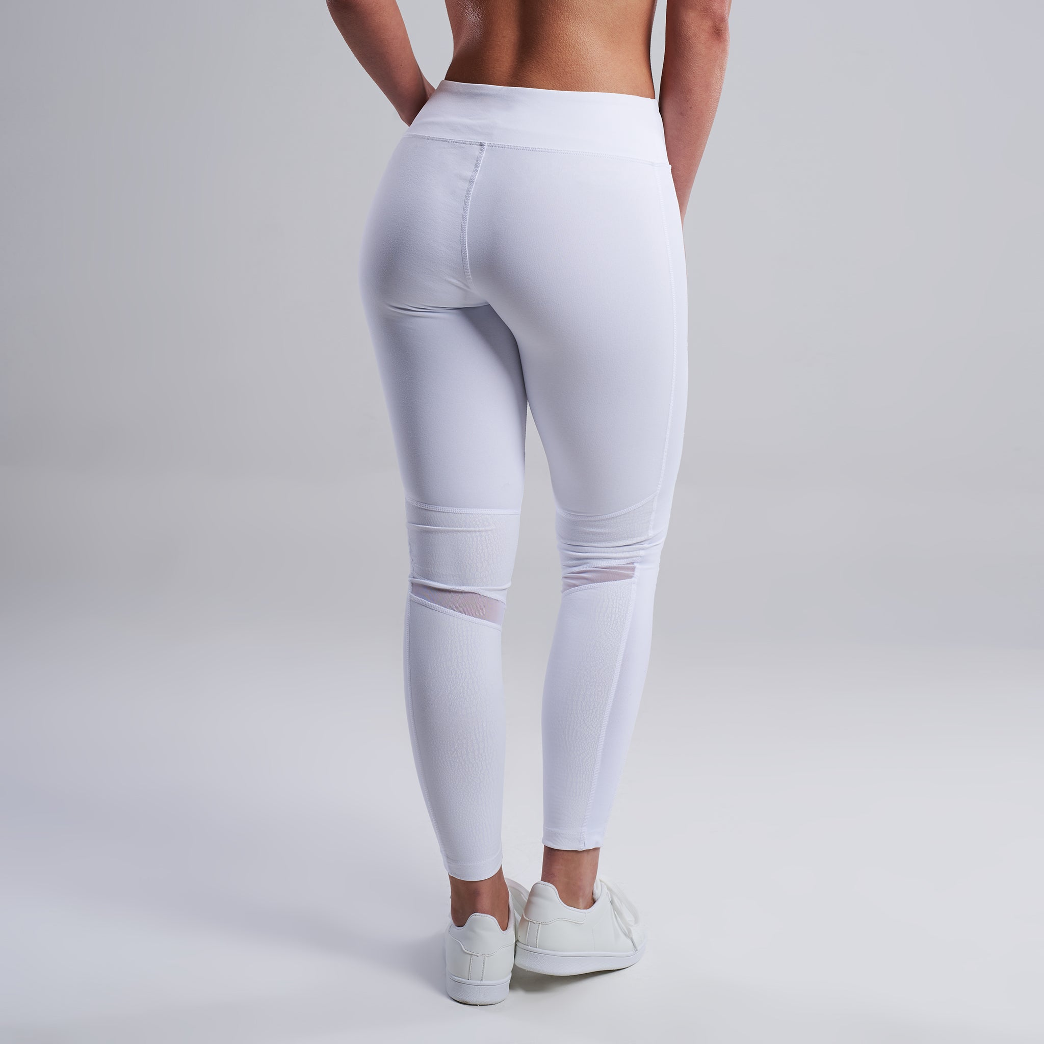 Suki Mesh Leggings in White