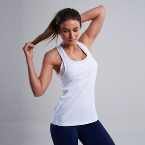 Vesta Racer Back Vest in White