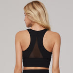 The Grace Mesh Bra Top in Black