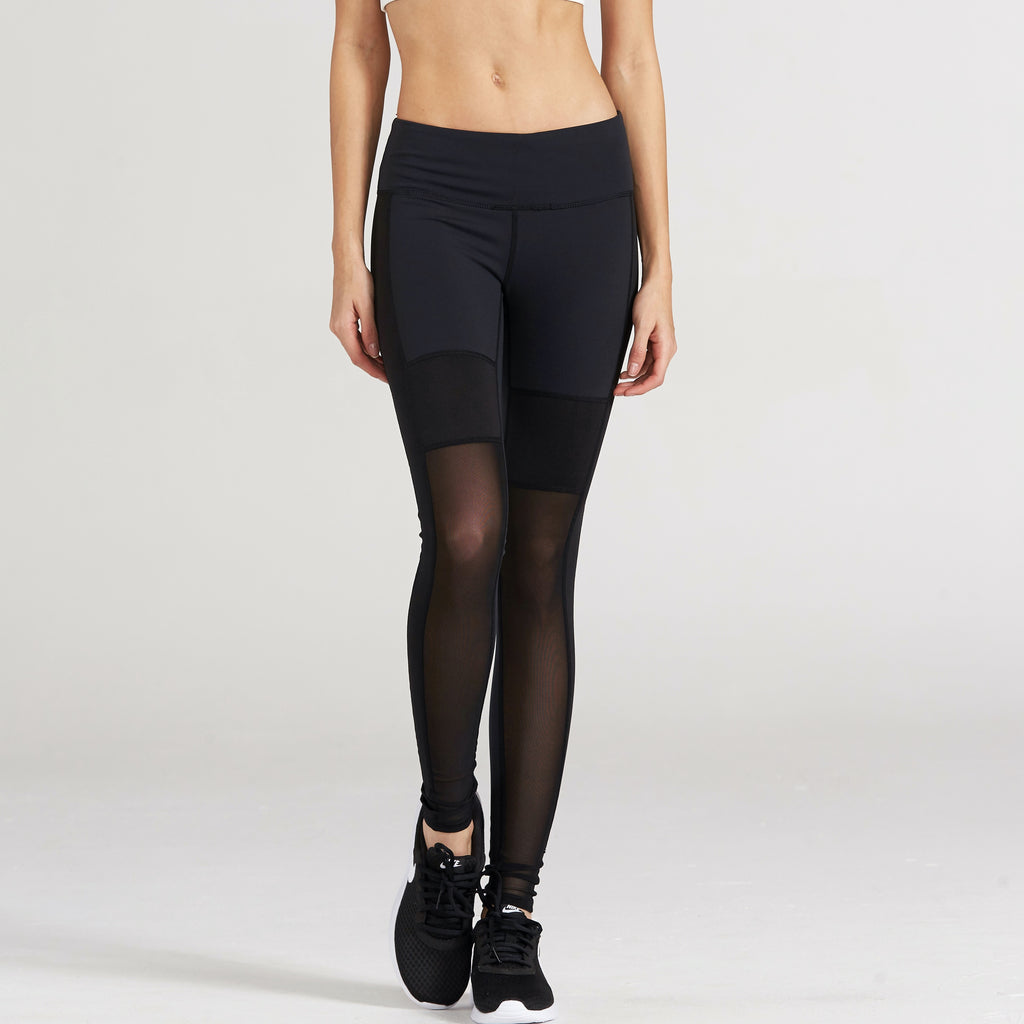 The Saros Mesh Leggings in Black