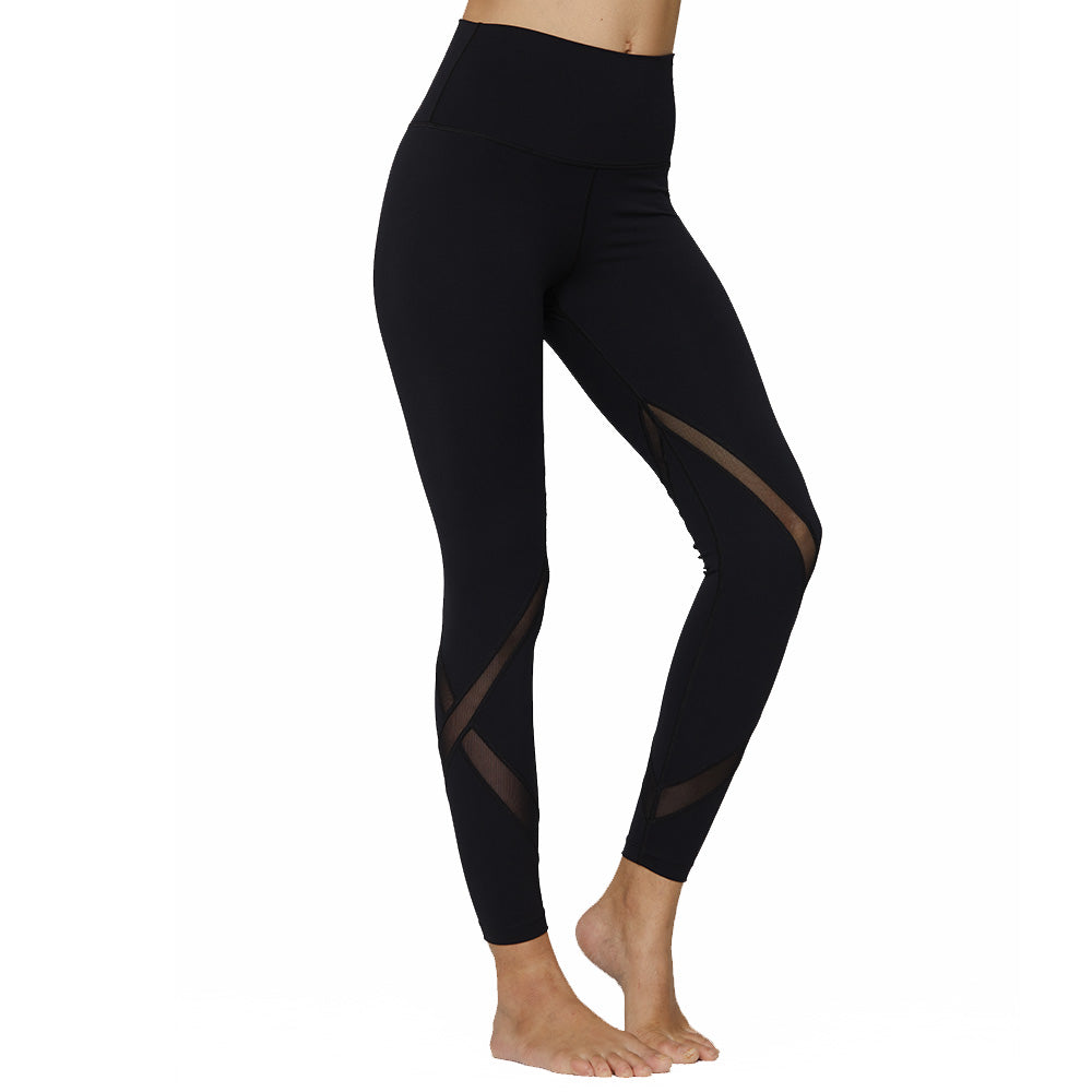 The Carman Mesh Leggings in Black