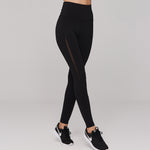 The Grace Mesh Leggings in Black
