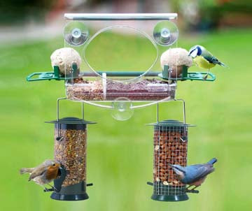 Meripac Complete Window Feeding Station for Garden Birds