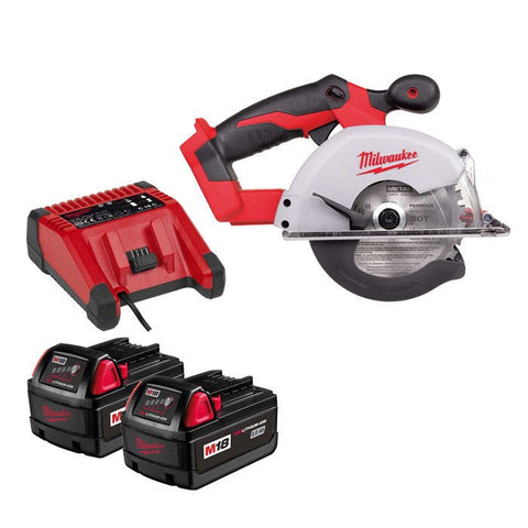Milwaukee 18 Volt 135mm Cordless Metal Saw 2 x 3.0AH Lith-Ion Batteries