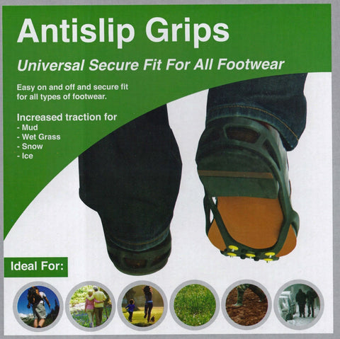Antislip FootGrips  Quick and Easy Footwear GRIP  Dont Slide and Slip Stay Safe