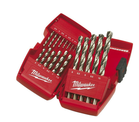 Milwaukee 4932352374 HSS-G Drill Bit Set Metal 19 Pieces