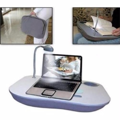 Laptop Tray with Lamp  AgeUK Lightweight Handy Laptop or Meal, Book Reading Tray