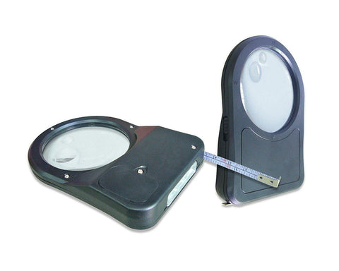 Dual Light Magnifier Measure Safety Magnifier and Tape Measure Multi-tool