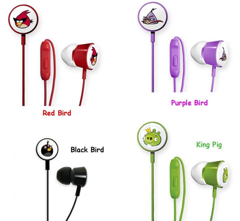 Angry Birds Character EarBuds for iPhone,iPad,Android,Samsung