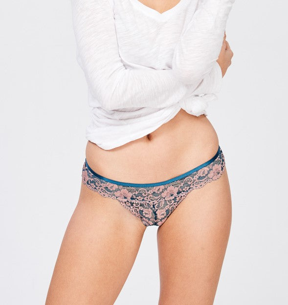 Sheer Two Toned Hipster Panties