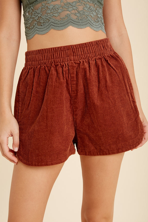 Corduroy Easy Shorts