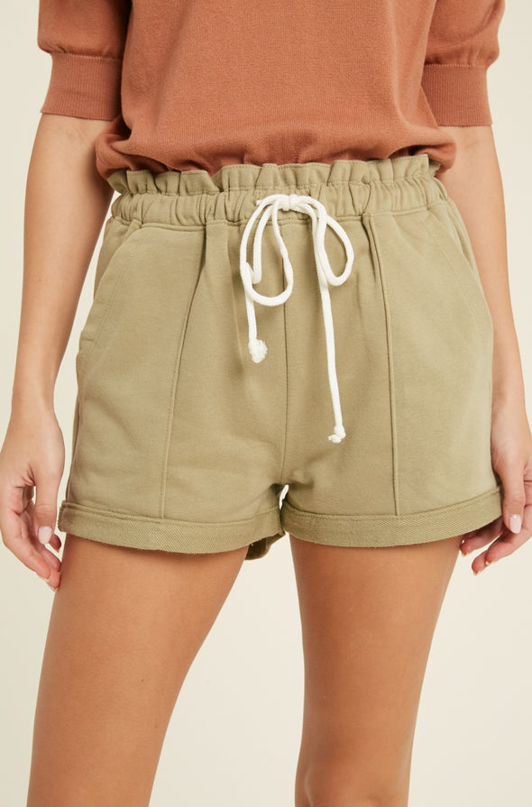 Casual Cinched Waist Shorts