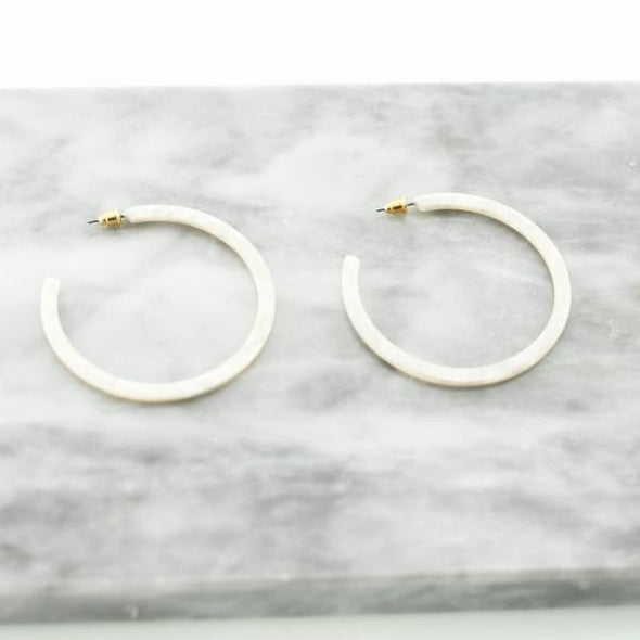 "2.25"" Flat Acetate Hoop Earrings"