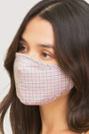Washable Plaid Print Fashion Face Mask