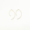Small Curved Bar Drop Earrings