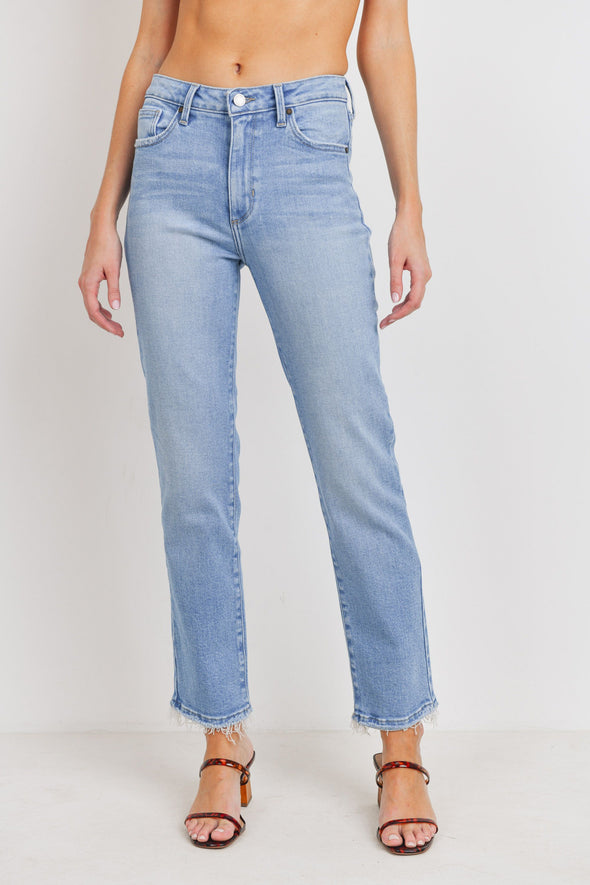 Clean High Rise Straight Jeans