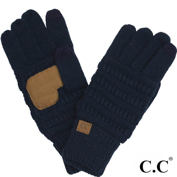 Ribbed Knit C.C. Glove