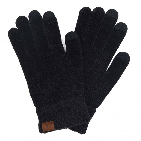 Solid Chenille Knit Smart Touch Gloves