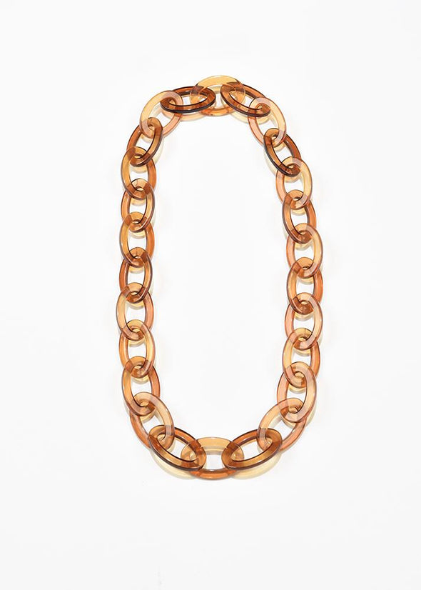 Lucite Oval Chain Necklace