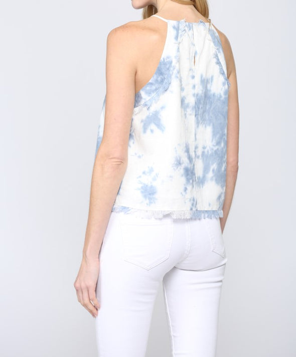 Tie Dye Halter Neck Top