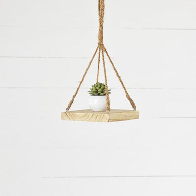 "8"" Wood Hanging Dish"