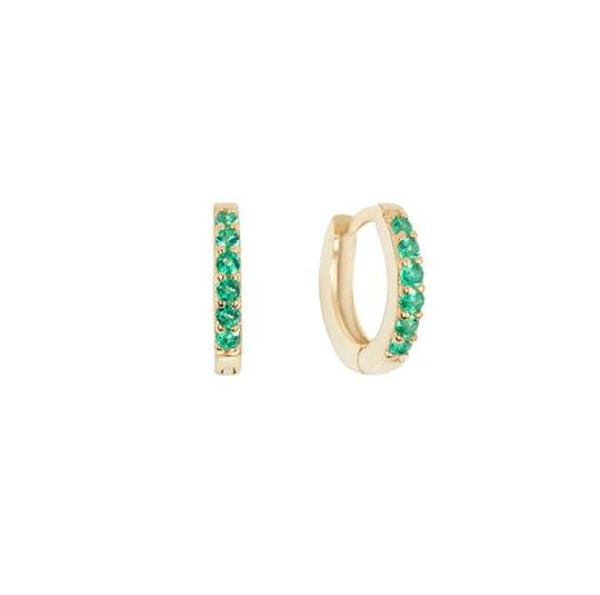 Katerina Pavé Huggie Hoop Earrings