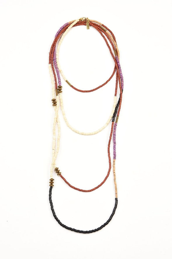 Simple Color Block Extra Long Necklace