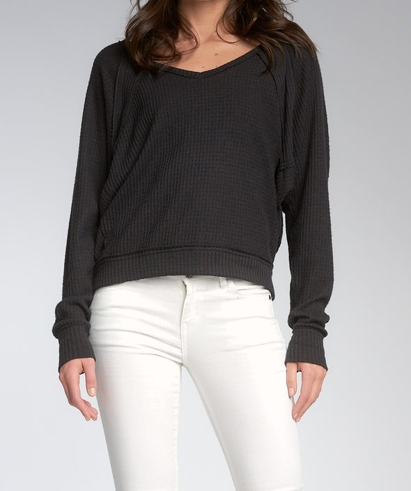Raglan Sleeve Wide Neck Top