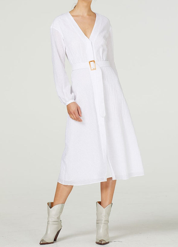 Everly Long Sleeve Midi Dress