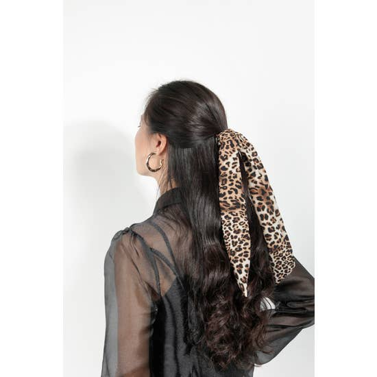 Animal Print Scrunchie Scarf