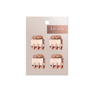 Square Mini Claw Clips - Set of 4