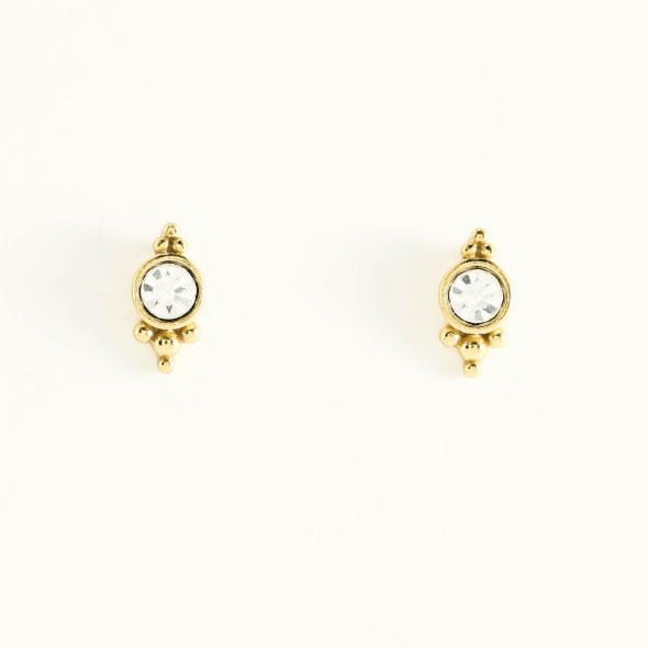 Granulated CZ Post Earrings