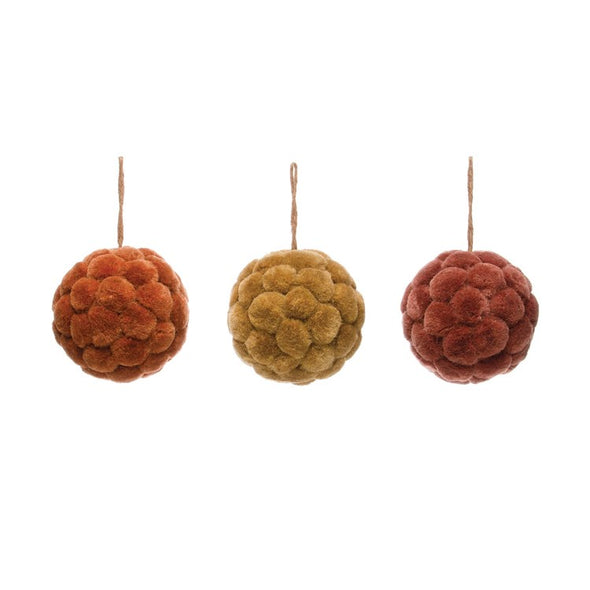 "5"" Round Sisal Ball Ornament"