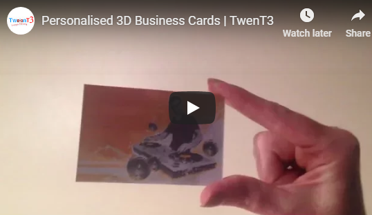 10% OFF 3D Personalised Business Cards