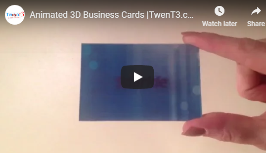 10% OFF Animated Lenticular Business Cards