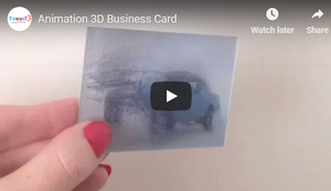 10% OFF Animation Lenticular Business Cards