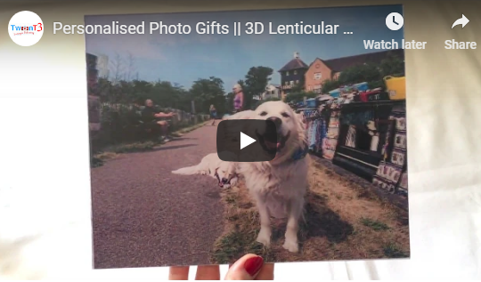 3D Dog Image || Lenticular Printing