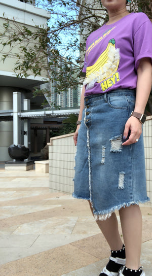 Hannah vintage denim skirt