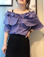 Kaylee cotton ruffle off shoulder