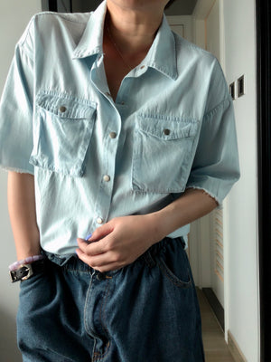 Kennedy snap buttons denim shirt