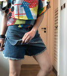 Morgan two way denim shorts