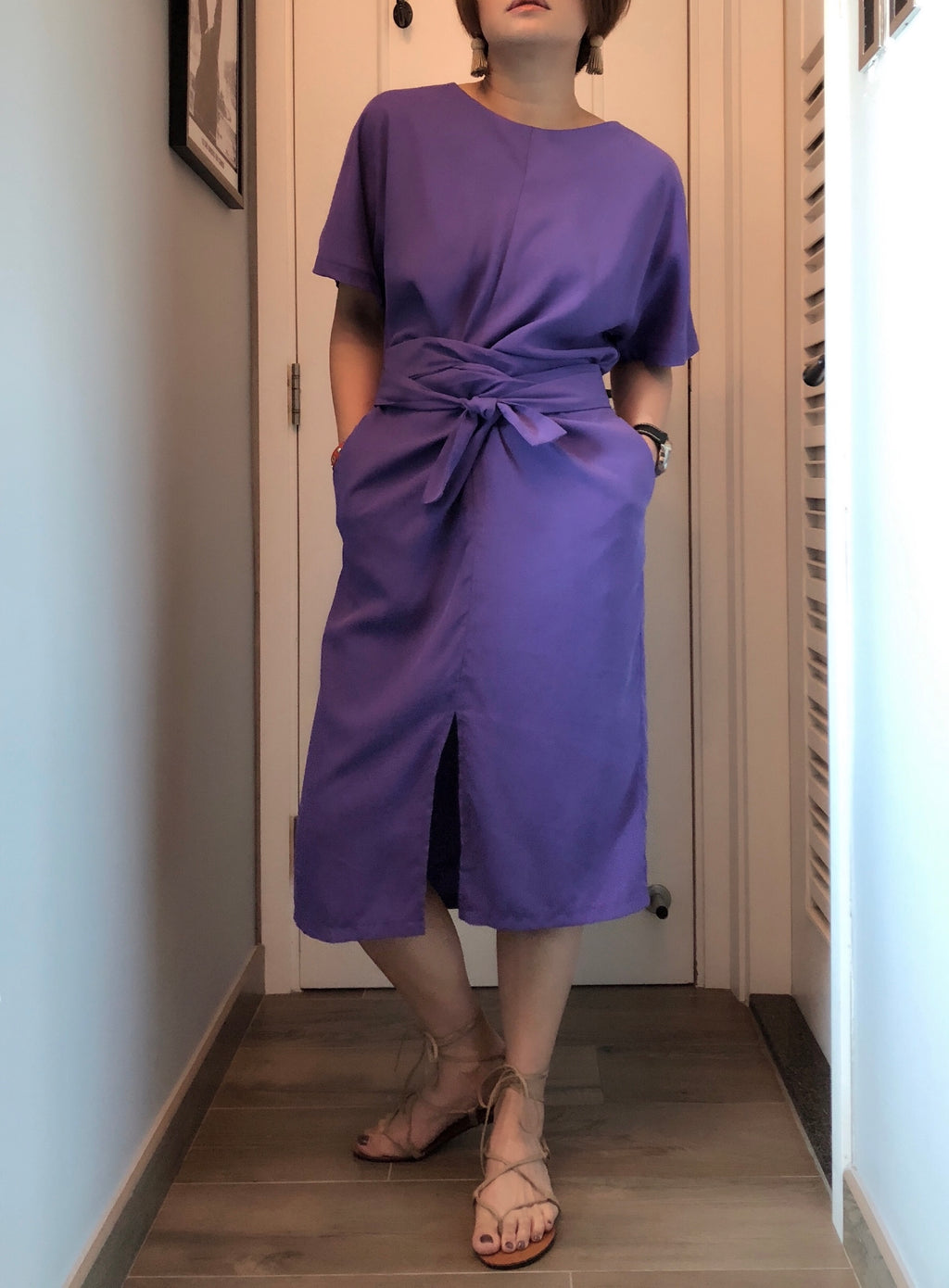 Daniela front tie long dress