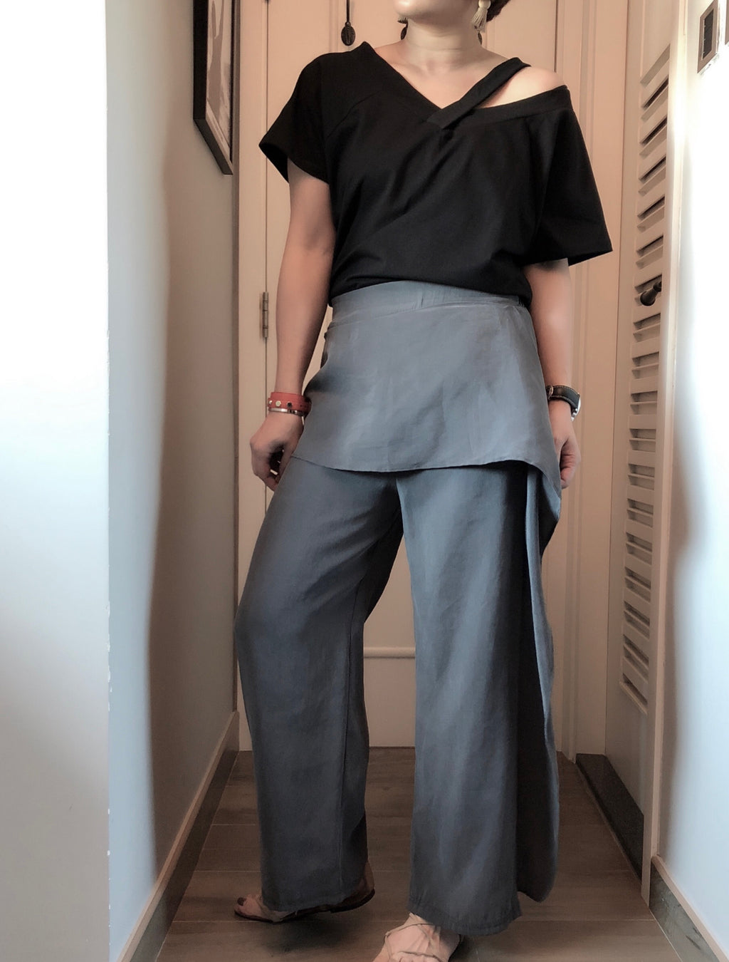 Jayla drape wide leg pants