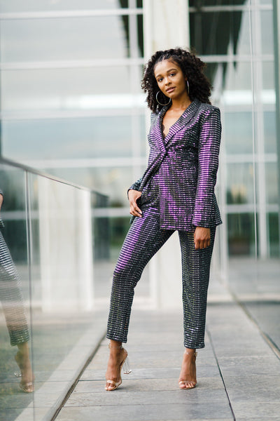 Sequin Pants Suit - best online boutique