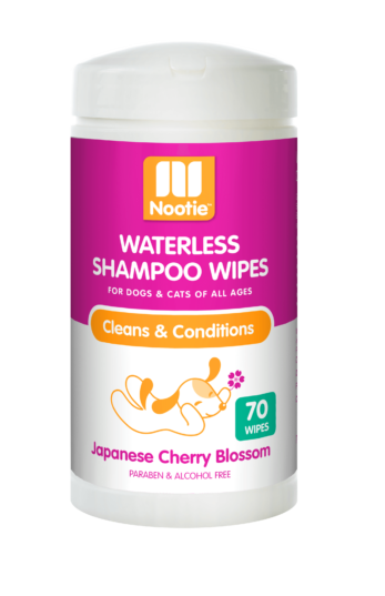 Nootie Japanese Cherry Blossom Waterless Shampoo Wipes For Dogs & Cats