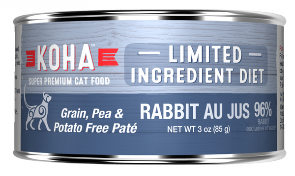 KOHA Grain & Potato Free Limited Ingredient Diet Rabbit Pate Canned Cat Food