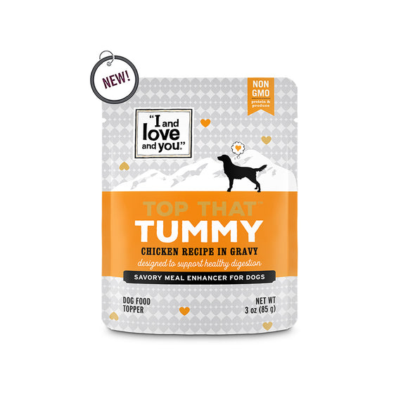 I and Love and You Top That Tummy Chicken Recipe in Gravy Meal Enhancer for Dogs