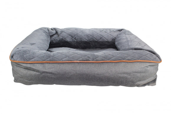 BeOneBreed Snuggle Bed Dark Gray Orthopedic Bed for Dogs & Cats