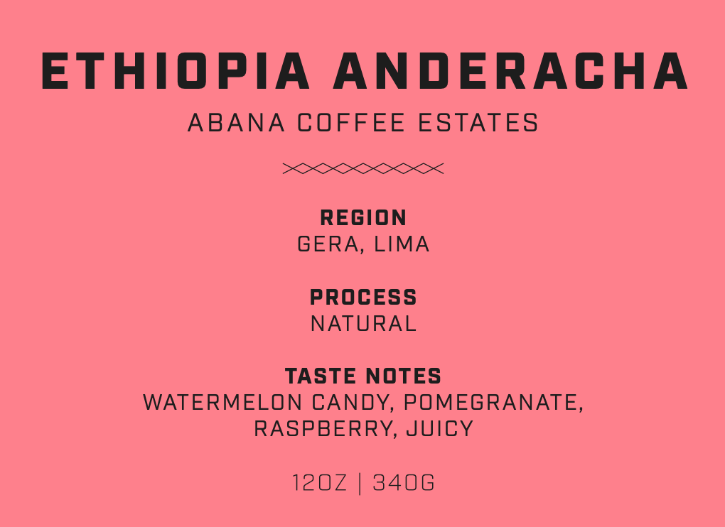 Ethiopia Anderacha - Abana Coffee Estates