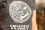 +++ DISTANT PLANET GLOW IN THE DARK T-SHIRT OLD SKOOL HARDCORE / JUNGLE  TECHNO / RAVE +++